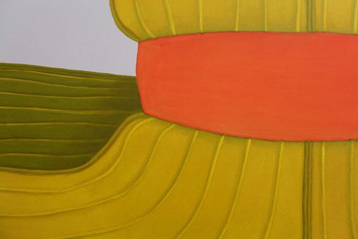 Pia Krajewski, detail oT (MatratzenSushi) 2019, oil on canvas, 180x300cm