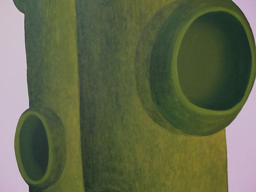 Pia Krajewski, detail, oT (Wald) 2020, oil on canvas, 180x300cm
