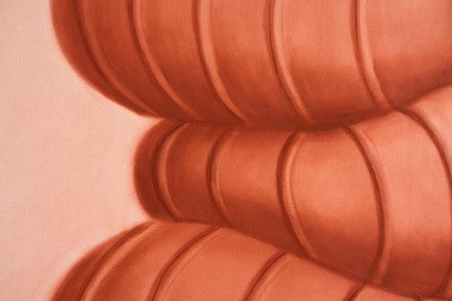 Pia Krajewski, Detail of oT (Pile) 2021, oil on canvas, 200x150cm