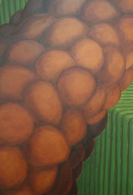 Pia Krajewski, detail oT (Sessel) 2019, oil on canvas, 180x150cm