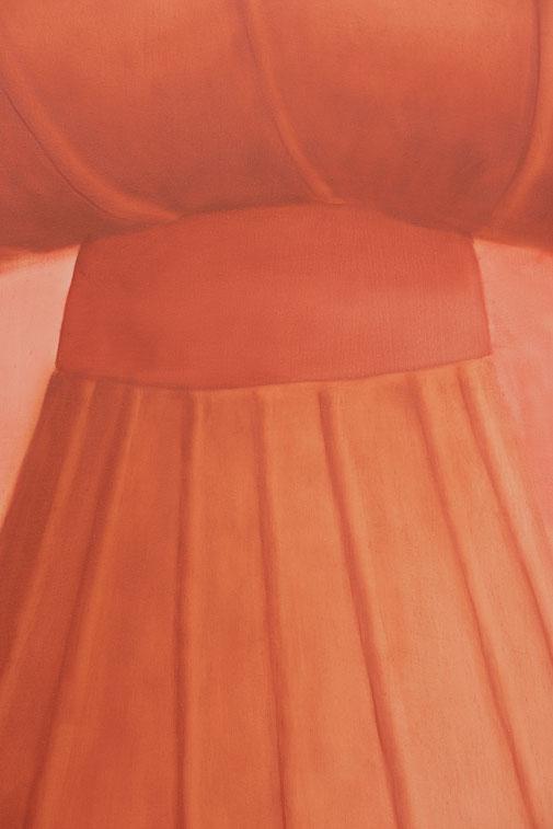 Pia Krajewski, Detail oT (Hat) (grown 1) 2021, oil on canvas, 150x120cm
