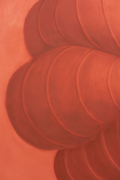 Pia Krajewski, detail oT (Cape) (grown 4) 2021, oil on canvas, 150x120cm