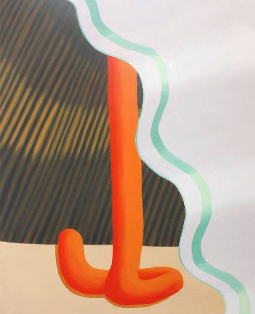 Pia Krajewski, oT (Dazwischen) 2018, oil on canvas, 180x150cm