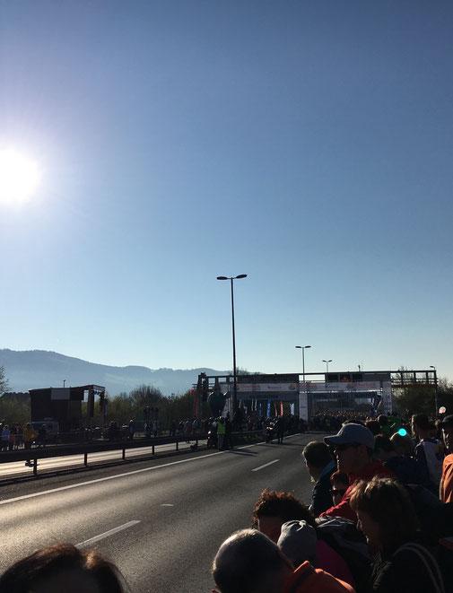 Startbereich auf der Voest-Brücke