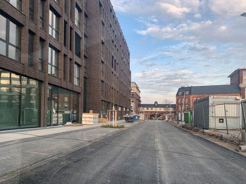 """Neue Straße """"Am Kabellager"""" führt rund um die Neubauten an der Schanzenstraße."""