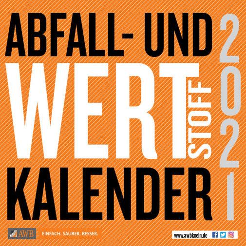 Titelbild AWB Abfall- und Wertstoffkalender 2021