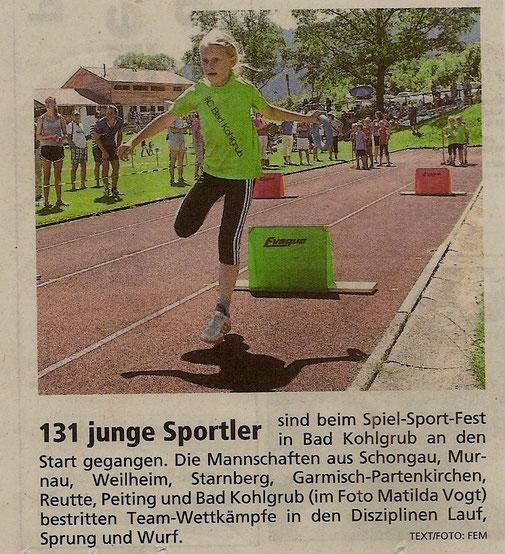 Spielsportfest  in Bad Kohlgrub 06.07.2014