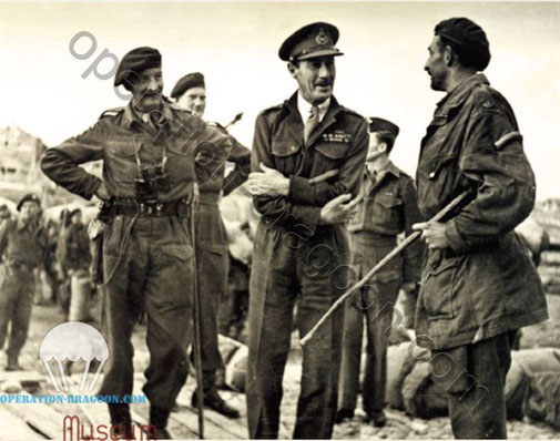 Brigadier Pritchard with General Scobbie at the liberation of Athens, 1945. Source : A Rich Tapestry of Welsh History by Philip Nanney Williams