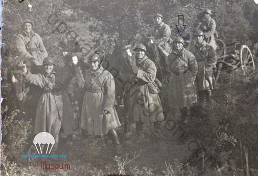 Aimé SAUVAN et son groupe du 113em d'artillerie Hippomobile dans les Alpes.