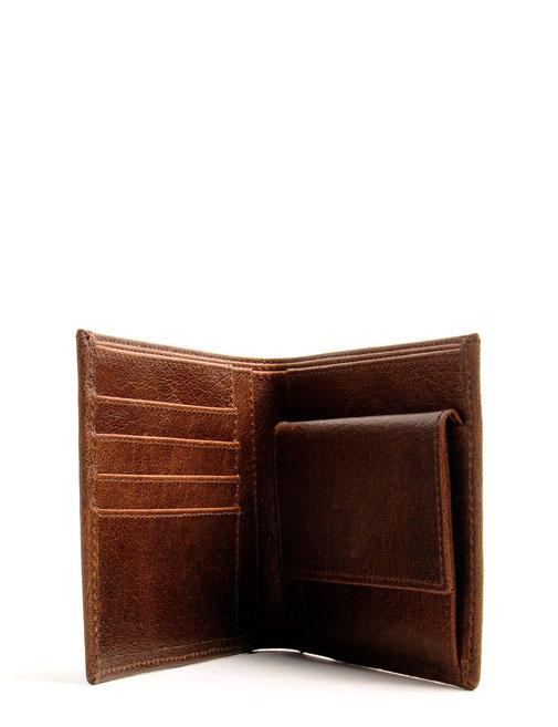Herren-Geldbörse aus echtem Leder  braun Online-Shop