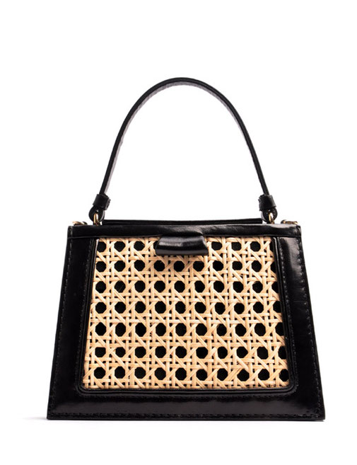 OSTWALD TURTLE EDGE TOTE black . gold Leatherbag in cooperation with Niely Hoetsch