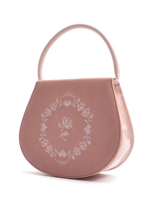 Dirndltasche Trachtentasche  aus  Leder rosa . OSTWALD Traditional Craft