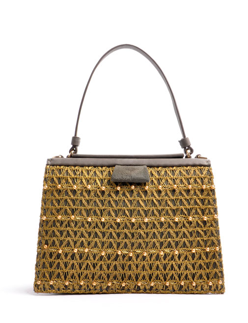 OSTWALD TURTLE EDGE TOTE grey . gold in cooperation with Niely Hoetsch