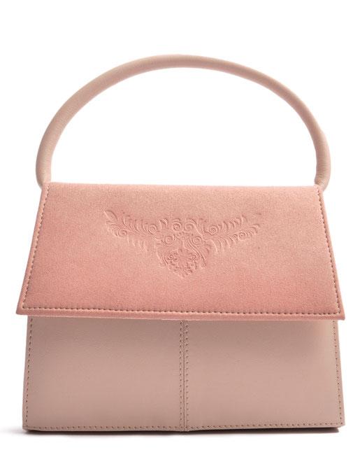 Trachtentasche  Leder rose . OSTWALD Traditional Craft