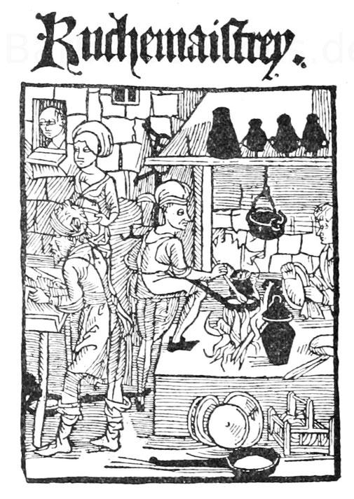 """Titelblatt der """"Küchenmeisterei"""" aus dem Jahr 1494."""