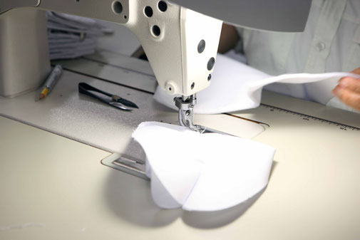 sewing of the heel area