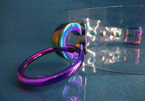 pvc collar rainbow collar clear pvc collar pvc choker rainbow choker bdsm collar pvc slave collar ddlg collar abdl collar iridescent collar regenboog halsband regenboog choker regenboog collar pvc halsband sub slave