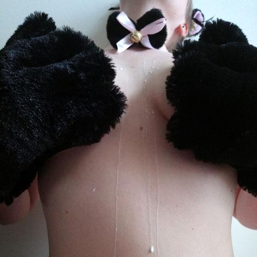 Kitty set black fluffy kitty set black cat cosplay set petplay kitty kittygirl soft cat set pluche cat set pluche cat mittens milk kitty play kattenset katten verkleedset pluche katten set kittenplay kittenset zwarte pluche kittenset