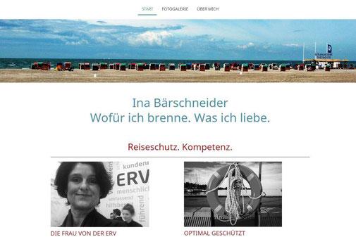 Screenshot der Startseite www.inabaerschneider.de