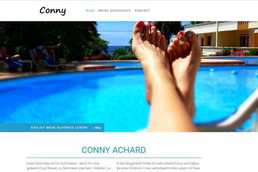 Screenshot der Internetseite von Conny Achard