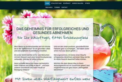 Screenshot der Internetseite von www.etwas-abnehmen.de
