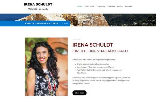 Screenshot der Internetseite von Irena Schuldt