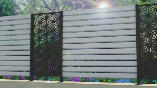 WPC Sichtschutz mit Aluminiumpfosten