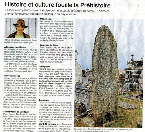 Ouest France - 10 novembre 2016