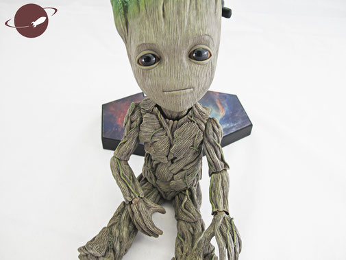 hot toys baby groot sitting pose review fanwerk