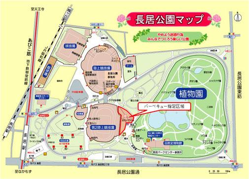 公園内BBQマップ