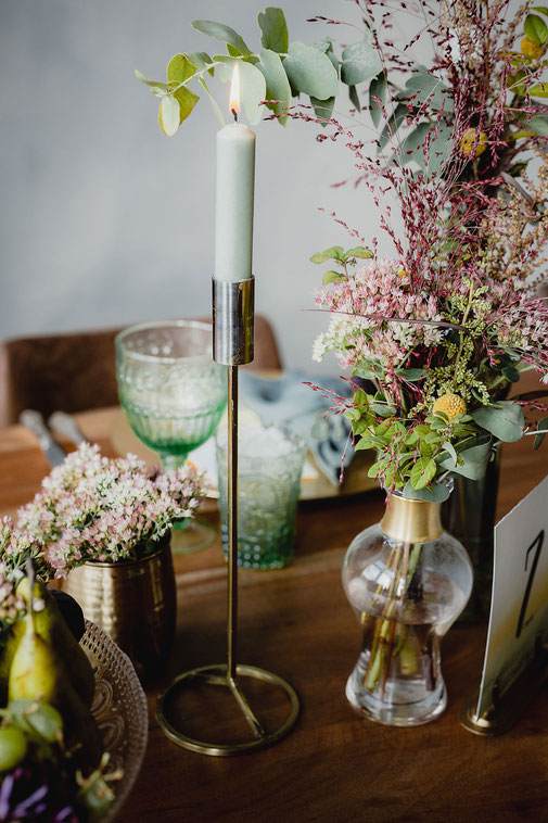 Hochzeit goldener Kerzenständer