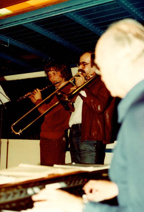 Mit Professor Tuggener am Elektropiano und Alois Suter an der Flöte (1982)