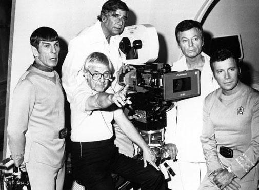 Robert Wise sur le tournage de Star Trek (1979)
