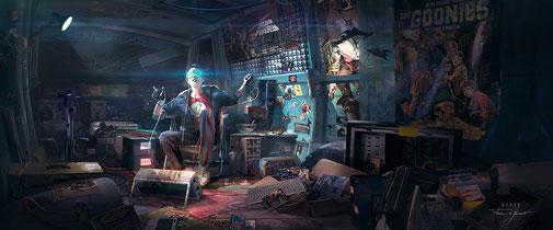 Le film multiplie les références aux séries, films, jeux vidéo et dessins animés des années 80.