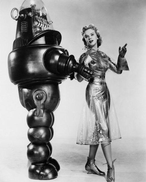 Robby le robot dans Planète interdite (Forbidden Planet), Fred M.Wilcox, 1956, Etats-Unis.