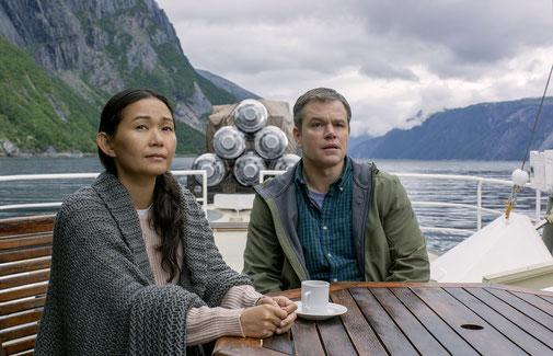 Hong Chau (Ngoc Lan Tran) et Matt Damon (Paul Safranek)
