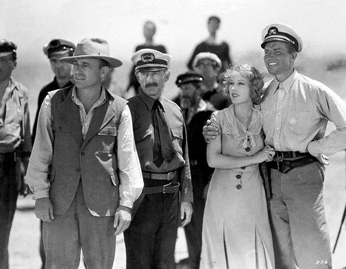 Robert Armstrong, Bruce Cabot, Frank Reicher, et Fay Wray -  King Kong (1933)