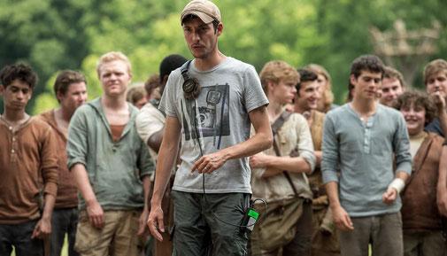 """Wess Ball durant le tournage du premier film """"Le Labyrinthe"""""""