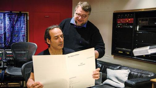 Avec Alexandre Desplats le compositeur, tous deux oscarisés en 2018.