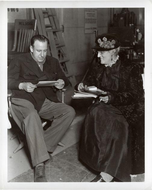 Tod Browning et Lionel Barrymore sur le tournage