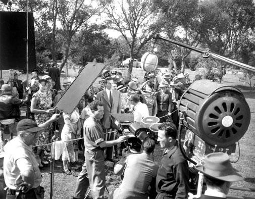 """Sur le tournage du film """"Le Jour où la terre s'arrêta""""(1951)"""