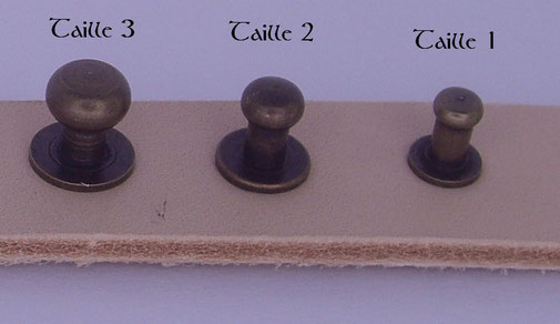 Comparatif de la taille des boutons de col