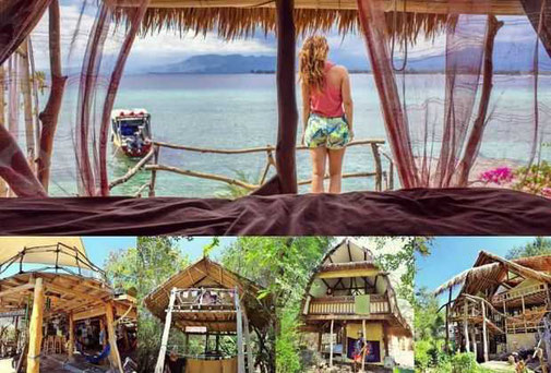 Gili Meno beachfront hostel for sale by owner