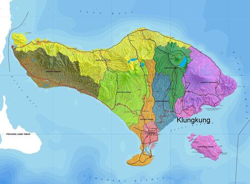 Klungkung regency in Bali