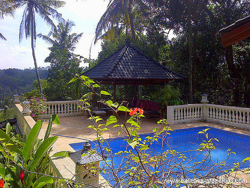 Kerambitan colonial house for sale with 4 bedrooms and views on forest and rice paddies