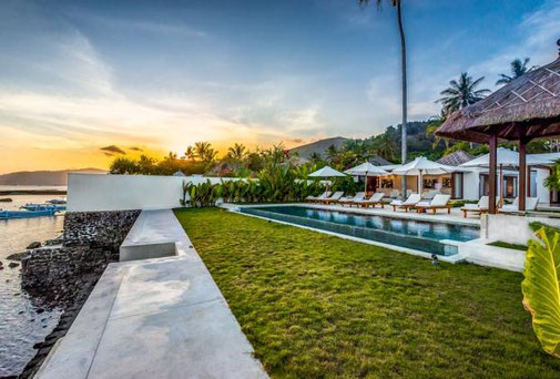 Oceanfront dream villa for sale in Candidasa, East Bali