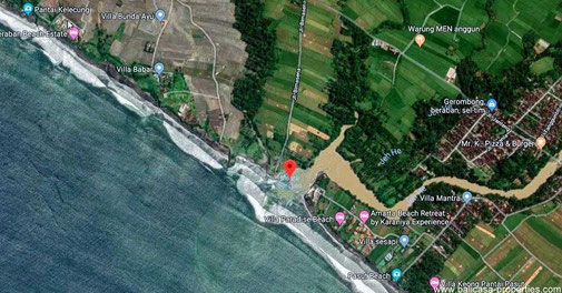 Large beachfront land in the Tabanan regency