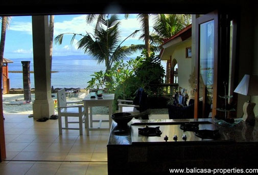 Candidasa 2 oceanfront villas for sale with totally 3 bedrooms.