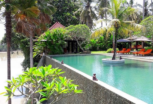 Tabanan riverfront villa for sale with 4 bedrooms.