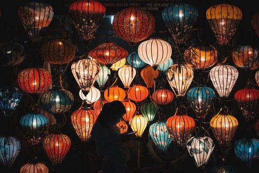 Lampion verkaufsstand in Hoi an